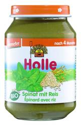HOLLE Spinat mit Reis